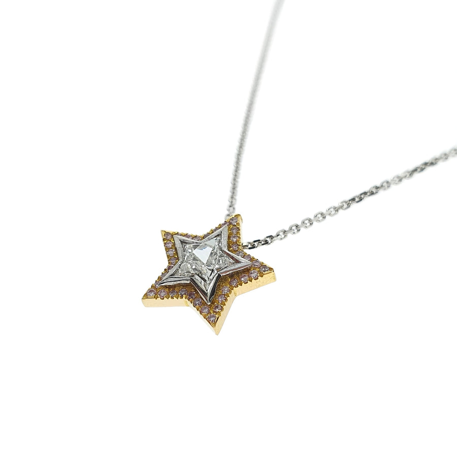 Star Cut Diamond Pendant