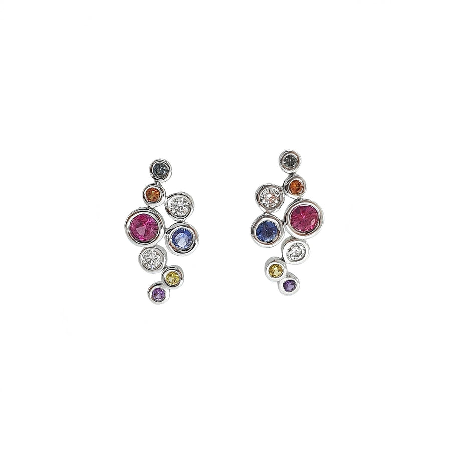 Multi-Coloured Sapphire Earrings