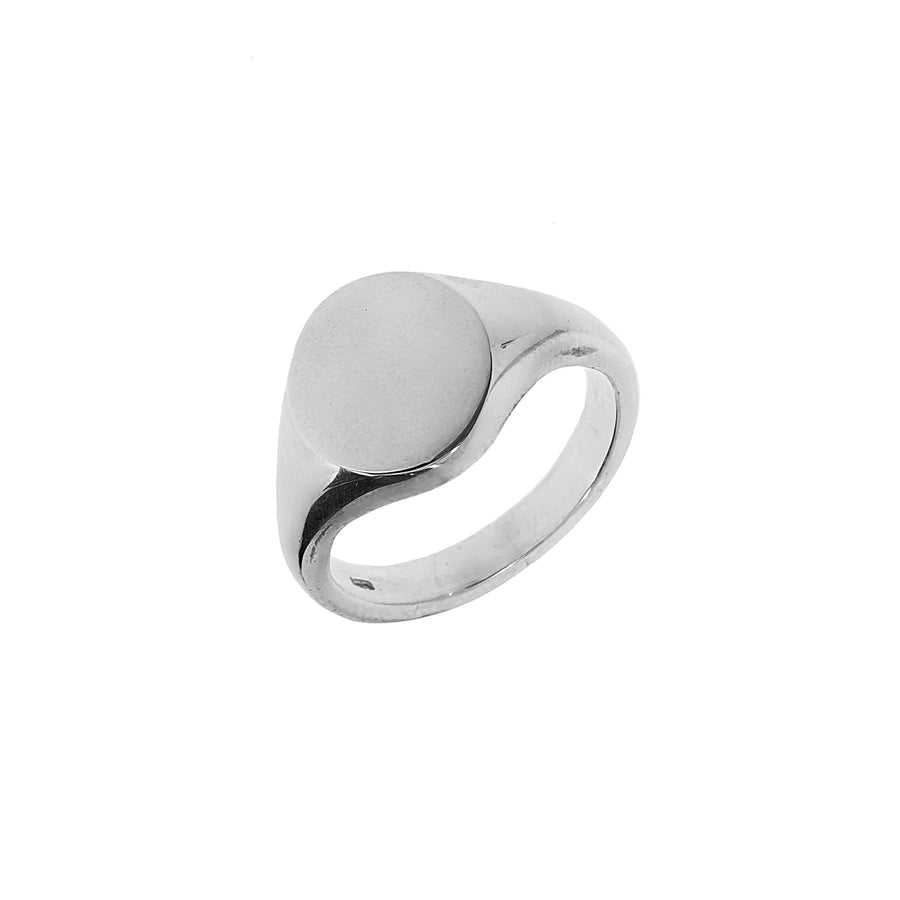 Heavy Oval Silver Signet Ring