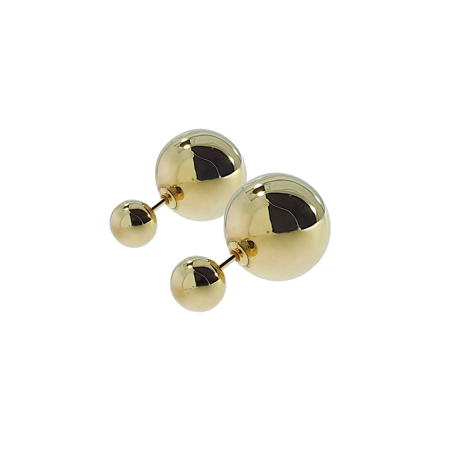 9ct Gold Double Ball Earrings