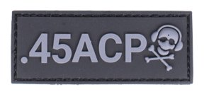 G-Code .45 Acp Caliber Patch (Black And Grey)