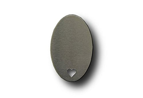 Rmp Stamping Blanks, 1.164  X 1.829  Oval With Heart, Aluminum .063  14 Gauge -