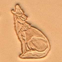 Tandy Leather 3D Howling Coyote Stamp 88422-00