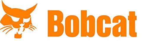 Bobcat Die Cut Vinyl Decal Sticker 7'' Width By 2.5'' Height (Orange)
