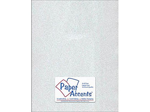 Accent Design Paper Accents Adp8511-25.924 No.27 8.5  X 11  Silver Art And Craft Vellum