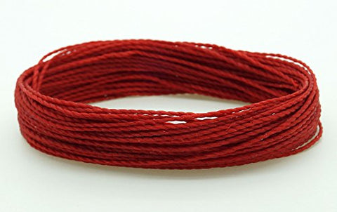 Dark Red 1Mm Waxed Polyester Twisted Cord Macrame Bracelet Thread Artisan String (30Yards Skein)