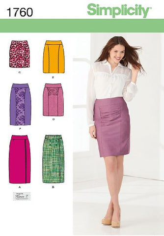 Simplicity Karen Z Pattern 1760 Misses Skirts, Each In Two Lengths Sizes 6-8-10-12-14
