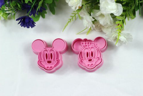 Chris'S Home 2 Pcs/Set,Cookie Cutter 3D Mickey Mouse Animal Cake Mold, Vegetable Mould, Cake Cutter, Baking Mould Diy