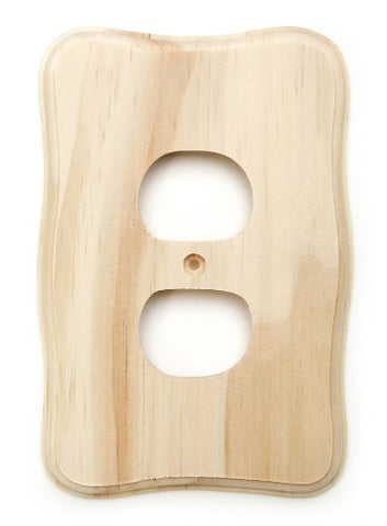Darice 9158-19 Wood Electric Outlet Cover, 5-3/4-Inch