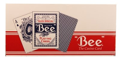 Bee Poker Standard Size Index Playing Cards - One Dozen