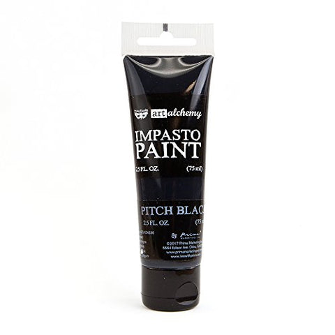 Prima Marketing Art Alchemy-Impasto Paint-Pitch Black
