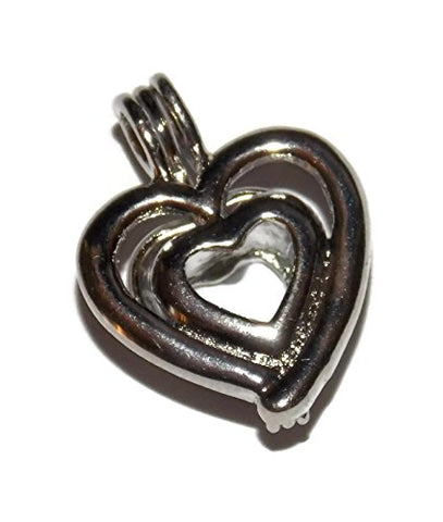 Heart Pearl Cage Pendant For Pick A Pearl - Old School Geekery Tm Brand Jewelry Making Supplies