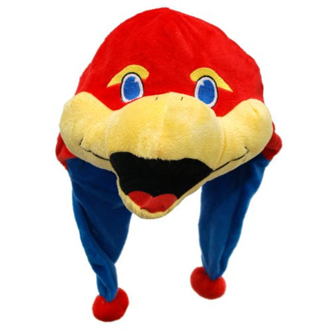 Ncaa Kansas Jayhawks Thematic Mascot Dangle Hat