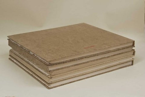 Khadi Handmade Hardback Book 13 X 16 Cm White Rough