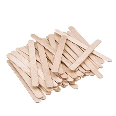 Erlvery Damain 300 Pcs 4.5 Inch Wood Craft Sticks,Natural Wood Popsicle Sticks Great For Diy Crafts,Children Teaching,Creative Designs