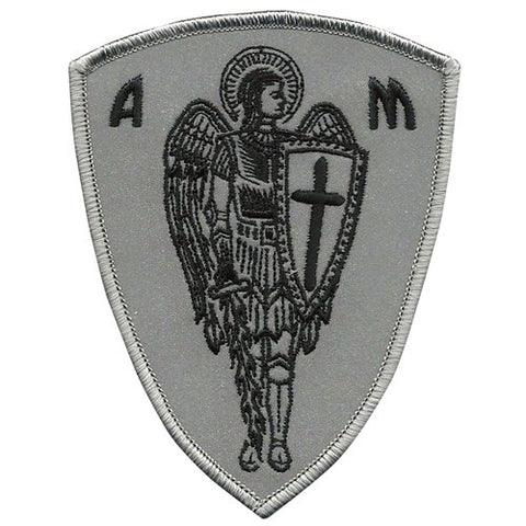 Vegasbee Archangel St.Michael Cross Shield Saint Christian Biker Rider Protection Reflective Patch