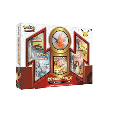 Pokemon Charizard Ex Red & Blue Generations Booster Box Set - 4 Packs And More