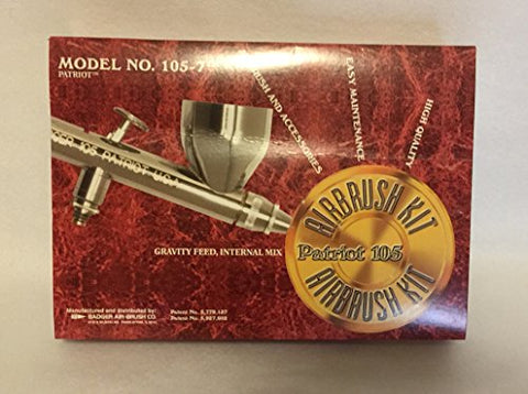 Badger 105-7 Model 105 Patriot Fine Airbrush Set