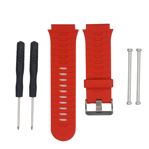 Kocome Replacement Silicone Watch Band Strap + Tools Kit For Garmin Forerunner 920Xt (Red)