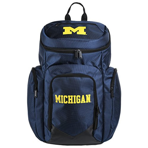 Ncaa Michigan Wolverines Traveler Backpack Sports Fan Home Decor, Blue, One Size