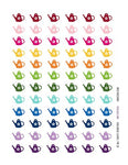 Monthly Planner Stickers Rainbow Watering Can Stickers Planner Labels Compatible With Erin Condren Vertical Life Planner - 30 Stickers