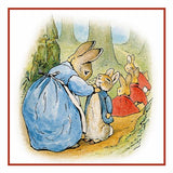 Peter Rabbit And Family On Walk By Beatrix Potter Counted X Stitch ...