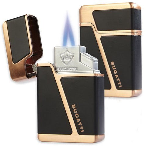 Bugatti B-2002 Torch Lighter - Black/Copper
