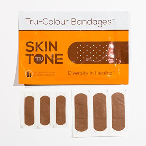 Tru-Colour Bandages Skin Tone Flexible Fabric Bandages (Orange Bag) -