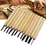 Sunreekhigh Quality 12Pcs Set Hand Wood Carving Chisels Knife For Basic Woodcut Diy Tools