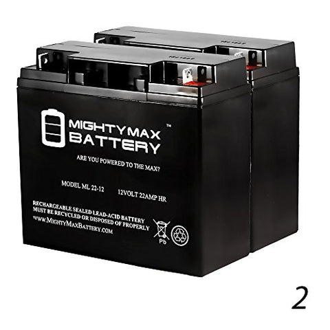 Ml22-12 - 12V 22Ah Sla Battery Replaces 51814 6Fm17 6-Dzm-20 6-Fm-18 Lcx1220P - - Mighty Max Battery Brand Product