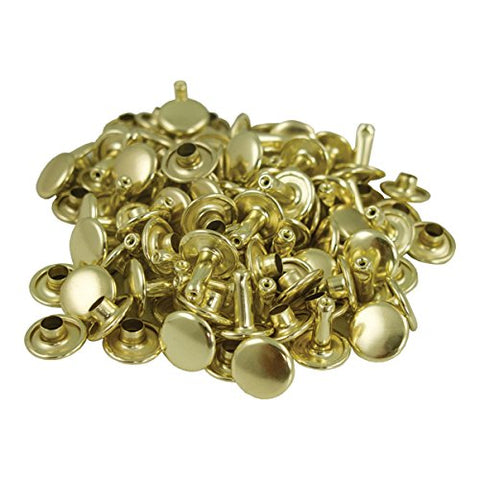 Springfield Leather Company'S Gold Plate Small Double Cap Rivets 100Pk