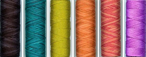 Sue Spargo Eleganza Embroidery Thread Color Set #18  For The Peacock Block Pattern