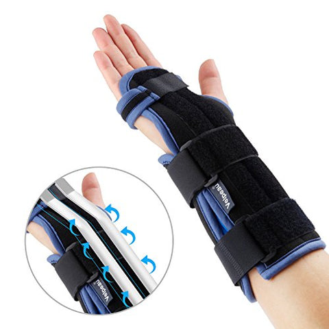 Wrist Support Brace - Carpal Tunnel Relief - Hand Splint Rest - Universal Immobilizer Corrector Fixation For Pain Tendinitis Sprain Fracture Arthritis Dislocation Severe Injurys (Medium)