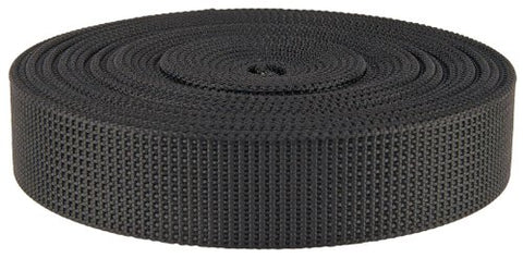 Country Brook Design 1 1/2 Inch Black Scuba Or Duty Belt Webbing, 5 Yards