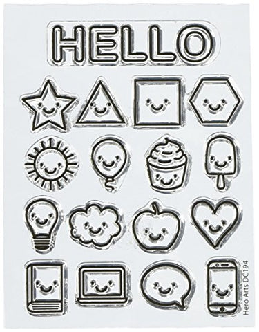 Hero Arts Dc194 Stamp & Cut Everything Smiles