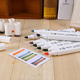 Yosoo 40, 60 Or 80 Assorted Colors Alcohol Oily Marker Pen Dual Brush Pen Art Markers Sketch Marker Pen Set With A Bag (White Body, 40-Color)