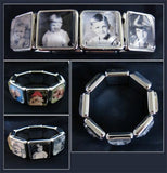 Instant Square Glass Stretch Photo Jewelry Picture Bracelet Kit