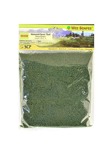 Wee Scapes Architectural Model Turf Moss Green-Coarse 20 Cubic In. Bag