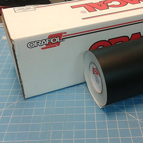 24  X 50 Ft Roll Of Oracal 651 Matte Black Vinyl For Craft Cutters And Vinyl Sign Cutters
