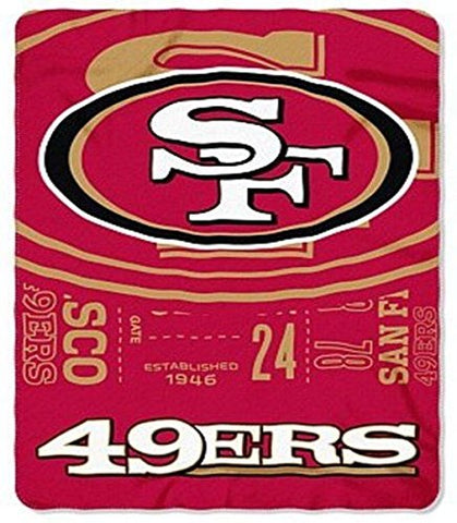 Nfl San Francisco 49Ers Oversized 66In X 90In Plush Fleece Throw Blanket