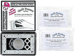 Bundle Of: Ultimate Quilt Pounce Stencil Chalk Transfer White Powder Pad Iron Off; And (2) Ultimate Pounce White Chalk Powder Iron Off Refills For Quilt Pounce Pad