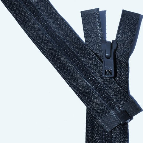30  Vislon Zipper ~ Ykk #5 Molded Plastic ~ Separating - 560 Navy (3 Zippers / Pack)