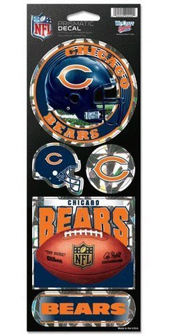 Chicago Bears  Stickers - Holographic Cracked Ice Design
