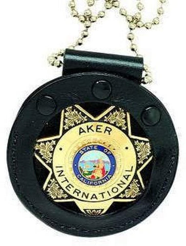 Aker Leather Aker - 599 Neck Star Badge Holder - A599-Bp
