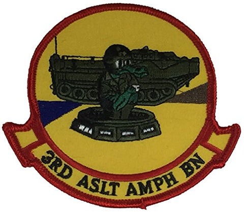 Usmc 3Rd Assault Amphibian Battalion Patch - Color - Veteran Owned Business