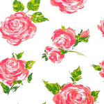 10 Large Sheets 20  X 30  Each Tissue Paper Rose Floral On White Gift Wrap Wrapping Tissue Paper Decoupage Projects