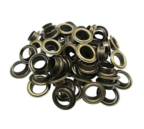 Amanaote 12Mm Internal Hole Diameter Bronze Eyelets Grommets With Washer Self Backing Sets