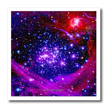 3Drose Ht_76827_3 Galaxy & Nebula Milky Way Galaxy Iron On Heat Transfer, 10 By 10 , For White Material