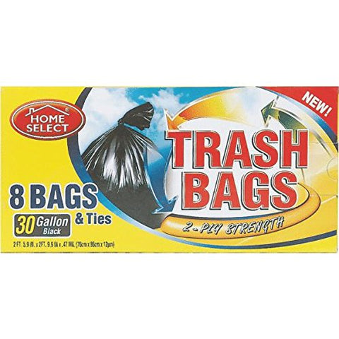 Home Select Trash Bags 30 Gallon