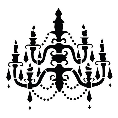 Chandelier - Art Stencil - Baroque - 12  X 12